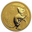 2020 Australia 1 oz Gold Lunar Mouse BU (Series 3)